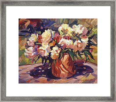 Flower Bucket Framed Print by David Lloyd Glover