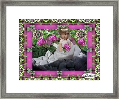 Flower Girl Upon Rocks Framed Print by Cibeles Gonzalez