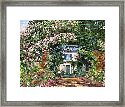 Flowering Arbor Giverny Framed Print by David Lloyd Glover