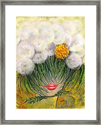 Fluffy Summer Framed Print