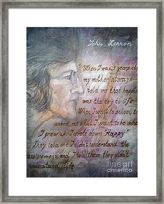 Framed Print featuring the painting '' For You John '' by Delona Seserman