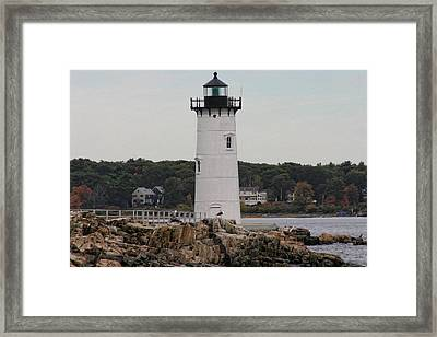 Fort Constitution Light Framed Print