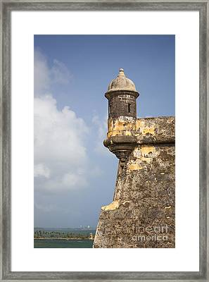 Fortified Walls And Sentry Box Of Fort San Felipe Del Morro Framed Print