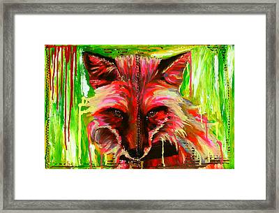 Foxy Lady Hermaique Framed Print by Bazevian