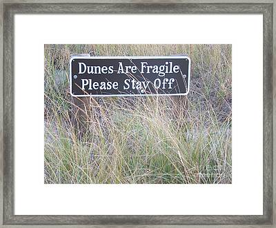 Framed Print featuring the photograph Sand Dune  by Eunice Miller