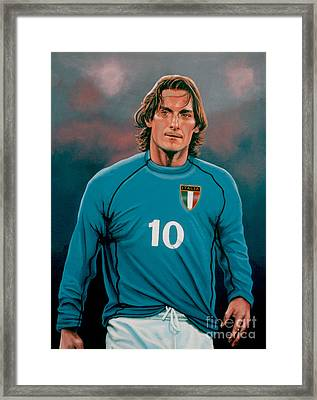 Francesco Totti 2 Framed Print by Paul Meijering