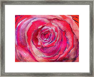 French Pink Framed Print