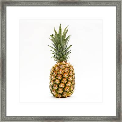 Fresh Pineapple Framed Print by Bernard Jaubert