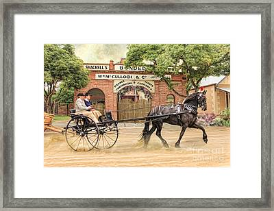 Friesian Folly Framed Print by Trudi Simmonds