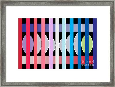 Fun Geometric  Framed Print