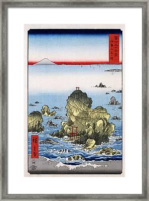 Futamigaura In Ise Province Framed Print by Georgia Fowler