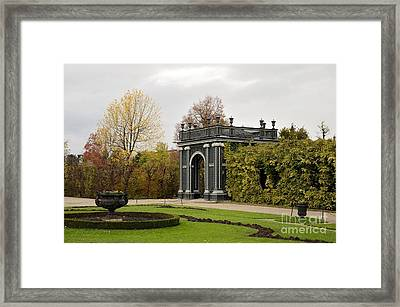 Framed Print featuring the photograph  Garden Gate Schonbrunn Palace Vienna Austria by Imran Ahmed