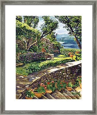 Garden Stairway Framed Print by David Lloyd Glover