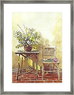 Gardener's Corner Framed Print by David Lloyd Glover