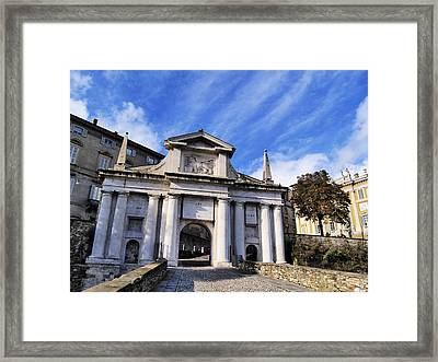 Gate In Bergamo Framed Print