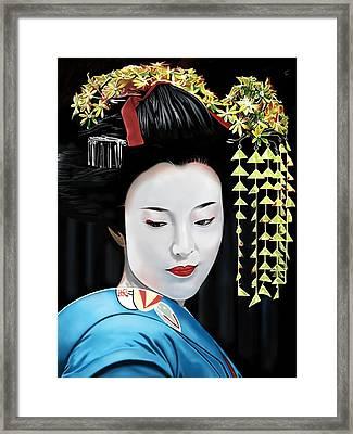 Geisha Framed Print by Andrew Harrison