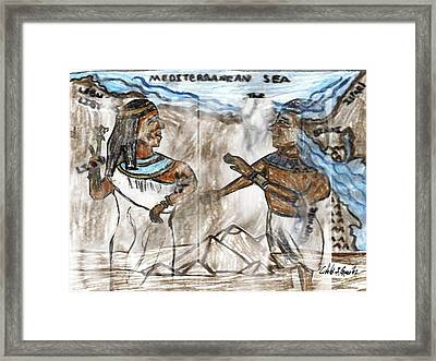 Ghosts Of Ancient Egypt Framed Print by Cibeles Gonzalez