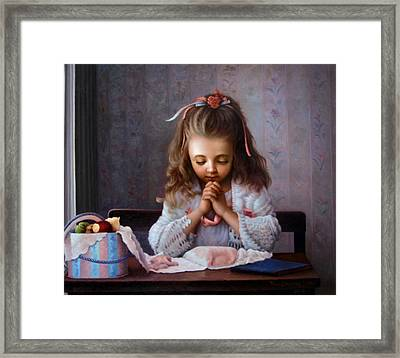 Girl's Prayer Framed Print