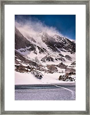 Framed Print featuring the photograph  Glass Lake by Steven Reed