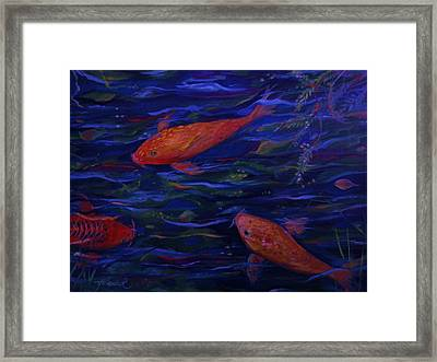 Golden Fish Koi Framed Print