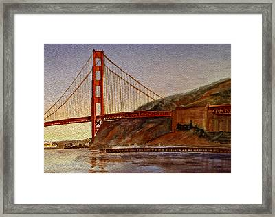 Golden Gate Bridge San Francisco California Framed Print by Irina Sztukowski