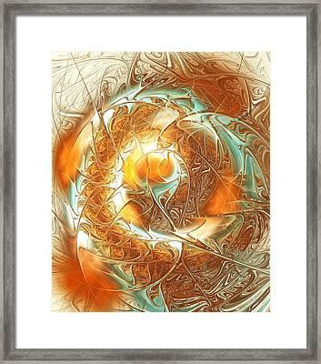 Golden Splash Framed Print by Anastasiya Malakhova