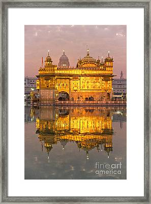 Golden Temple In Amritsar - Punjab - India Framed Print