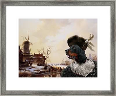 Gordon Setter Art Canvas Print - Framed Print