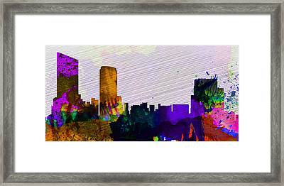 Grand Rapids City Skyline Framed Print by Naxart Studio