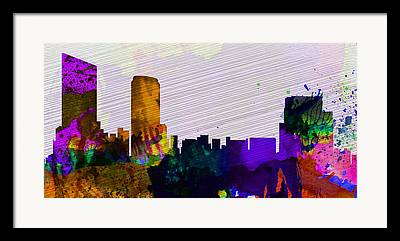Panoramic Mixed Media Framed Prints