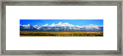Grand Tetons Framed Print by Robert Kleppin