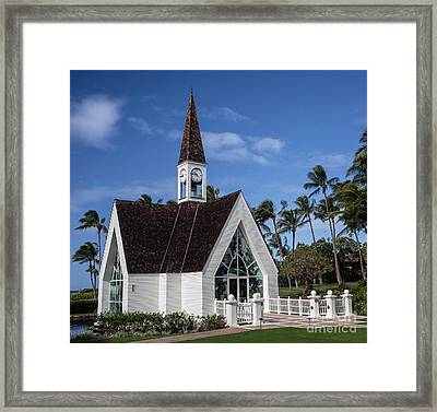 Grand Wailea Hawaiian Resort Wedding Chapel On Maui Framed Print by Edward Fielding