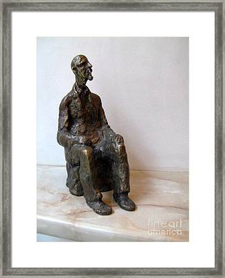 Grandfather With Pipe Framed Print by Nikola Litchkov