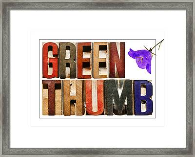 Green Thumb Framed Print by Donald  Erickson