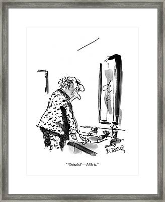 'grizzled'  -  I Like It Framed Print by Donald Reilly