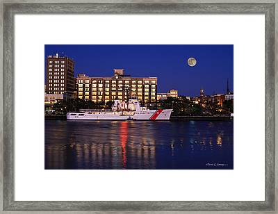 Guarding Our Coast Framed Print
