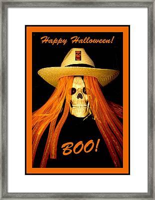 Happy Halloween Skull Framed Print