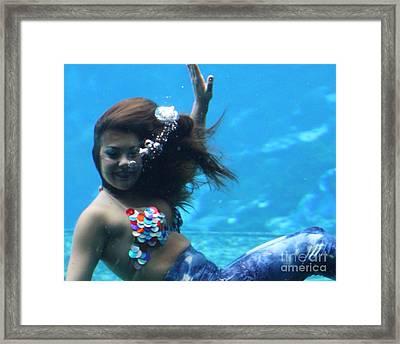 Happy Mermaid Framed Print by Chuck  Hicks