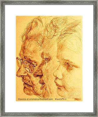Have Your 3 Generations Drawn Or Painted Framed Print by PainterArtistFINs Husband MAESTRO