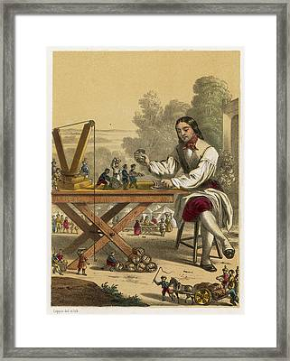 He Is Given Six Hundred  Servants Framed Print by Mary Evans Picture Library