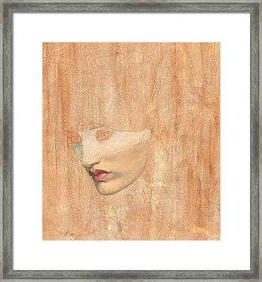 Head Of Proserpine Framed Print by Dante Charles Gabriel Rossetti