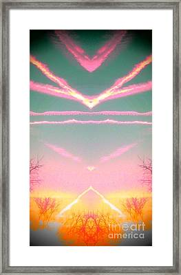 Heavenly  Contrails  Framed Print