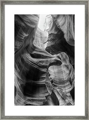 Heavenly Light - Black And White Framed Print