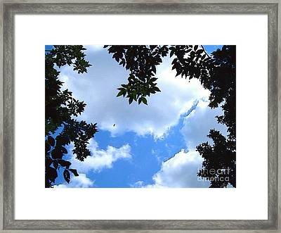 Heavens Above Us -digital Art Framed Print by Robyn King