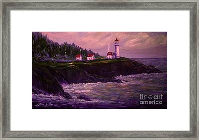 Heceta Head Lighthouse At Dawn's Early Light Framed Print