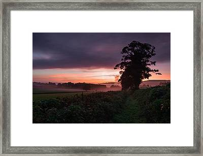 Hele Payne Farm At Dawn Framed Print by Pete Hemington