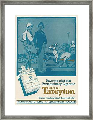 Herbert Tareyton Cigarettes - There's Framed Print by Mary Evans Picture Library