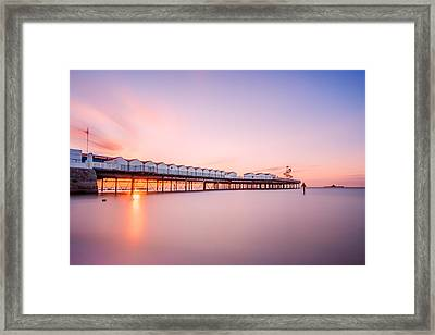Herne Bay Pier At Sunset Framed Print by Ian Hufton