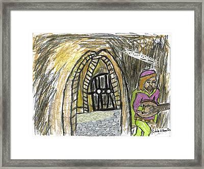 Hidden Lutist Framed Print by Cibeles Gonzalez
