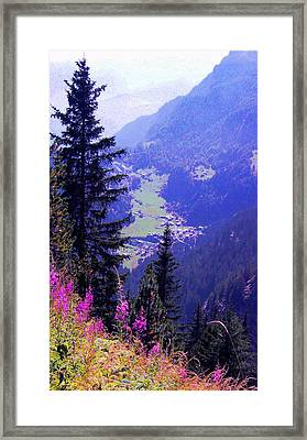 Framed Print featuring the photograph  High Mountain Pastures by Giuseppe Epifani